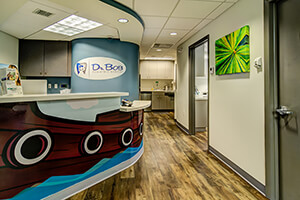 Front Office at Dr. Bob Pediatric Dentistry in South Miami, Florida
