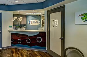 Reception at Dr. Bob Pediatric Dentistry in South Miami, Florida