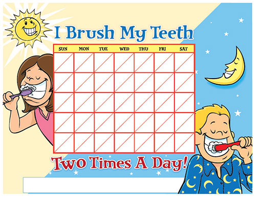 Color Brushing Chart for Children - Pediatric Dentist in South Miami, FL